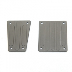 CNC Machined Aluminum Front and Rear Skid Plates for EXO Buggy (Gun Metal)